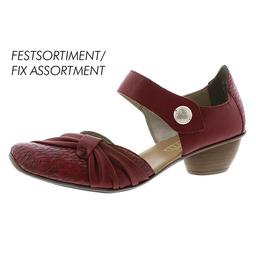 0c0b16442bea Obuv Rieker - Sandále - Bordové dámske uzatvorené sandále na nízkom ...