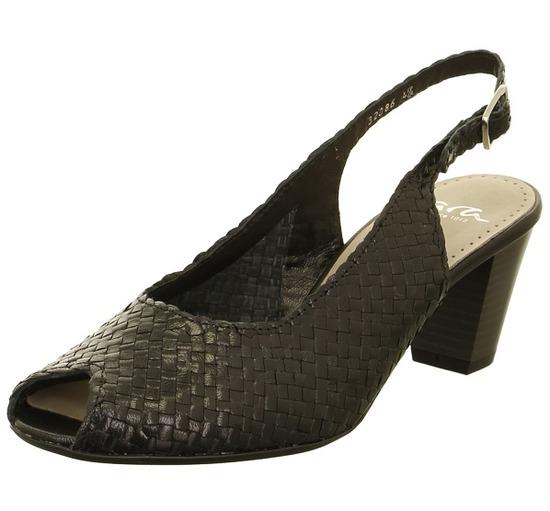 ARA Sandále Čierne dámske otvorené sandále na vysokom podpätku značky Ara