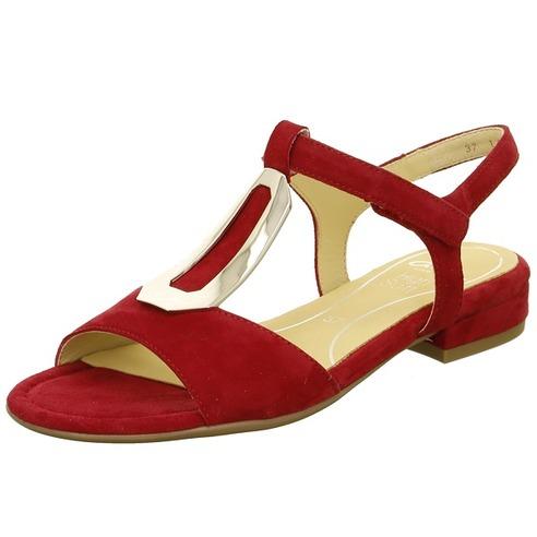fb72a67570f51 Soňa - Dámska obuv - Sandále - Červené dámske otvorené sandále na ...