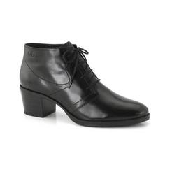5a9a268f6720 Čierne kožené členkové topánky na šnurovanie Gerry Weber