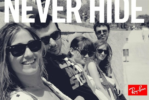 Ray-Ban okuliare never hide