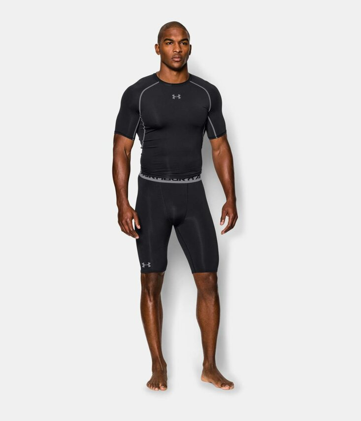 UA HG ARMOUR LONG COMP SHORT Šortky