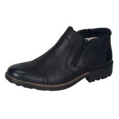 Soňa - Pánska obuv - Zimná - Čierne kožené Rieker čižmy so zapínaním ... 04bd96073bd