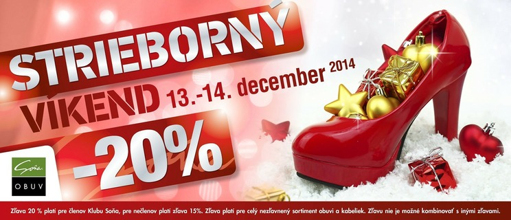 ebb48add58ef Strieborný víkend v Soni so zľavou až do -20%!