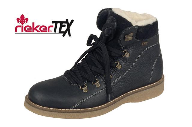 Čierne kožené pánske zateplené topánky Rieker 3c4687c676