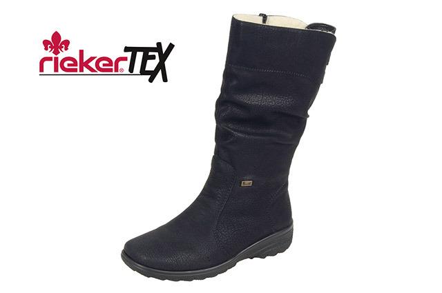 768102352033 Čierne zateplené čižmy Rieker s technológiou RiekerTEX