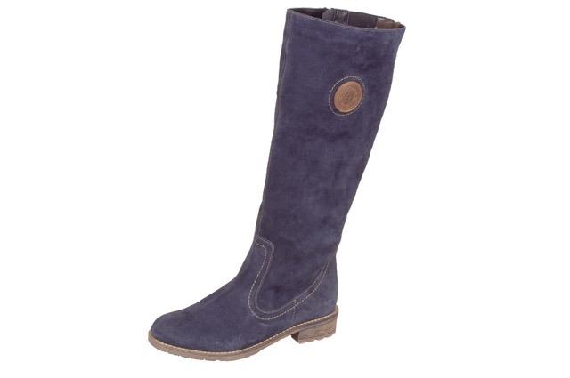 5e4a87fd5 Modré vysoké kožené čižmy Remonte-Rieker